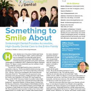 Smileinsight Dental-something to smile about article
